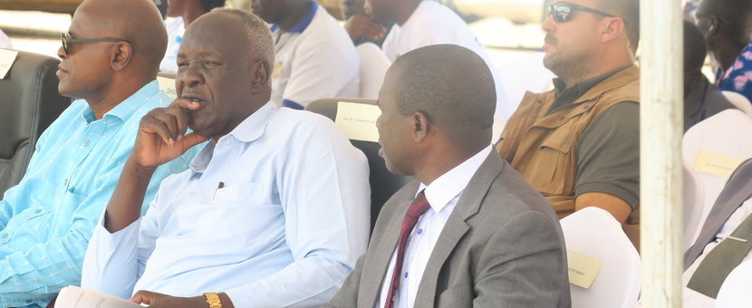 Members of the R-JMEC and NPTC follow proceedings during the peace advocacy event in Juba