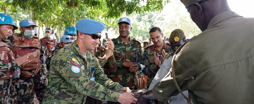 unmiss south sudan yei lasu food insecurity protection of civilians patrols seeds medical camp clothes and shoes