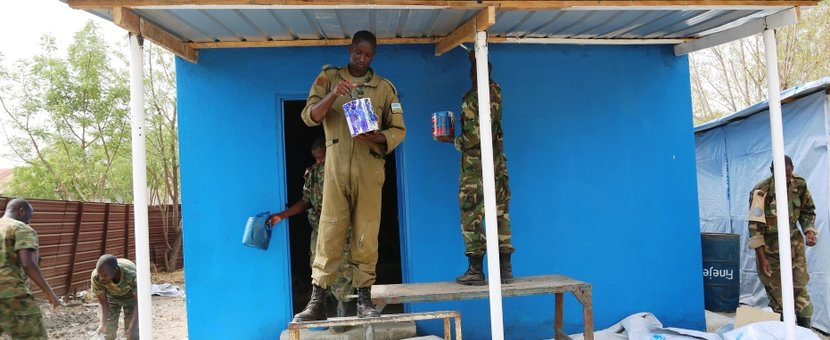 unmiss south sudan malakal rwandan peacekeepers school children stoves kitchen food june 2018 rondereza