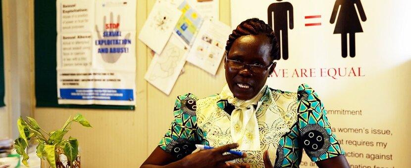 UNMISS gender affairs gender equality peacekeepers South Sudan peacekeeping
