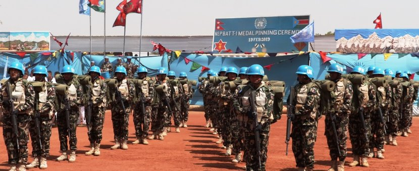 unmiss south sudan nepal peacekeeping medal ceremony rumbek protection of civilians saving humanity