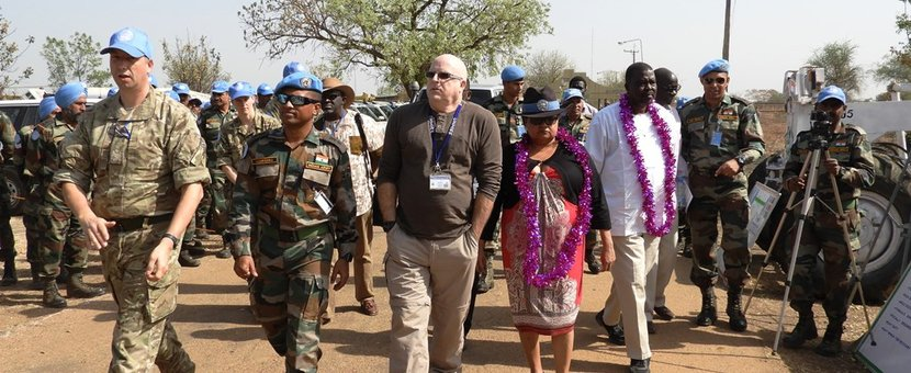 unmiss south sudan malakal melut road rehabilitation mission mandate protection of civilians indian engineers support revitalized peace agreement