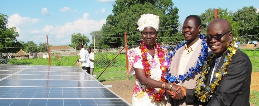 unmiss south sudan rumbek quick impact project fm 98 radio station solar power panels