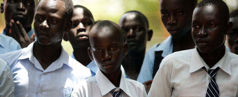 unmiss south sudan rumbek quick impact project girls school dormitory david shearer peace reconciliation intercommunal violence