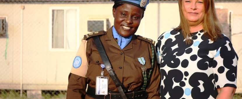 UNMISS South Sudan Malakal correction officer medal parade ceremony protection of civilians peacekeeper Tanzania