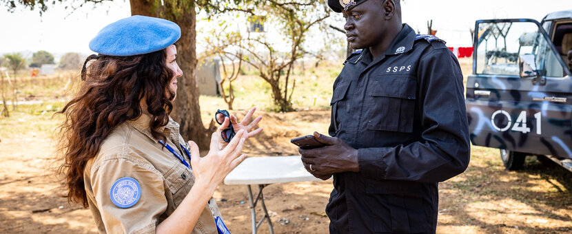 unmiss unpol south sudan juba yei road checkpoint idp camps local communities residents community policing trust cooperation
