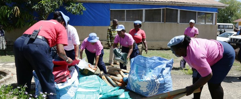 unmiss juba women network unpol police male female patients children gifts protection of civilians